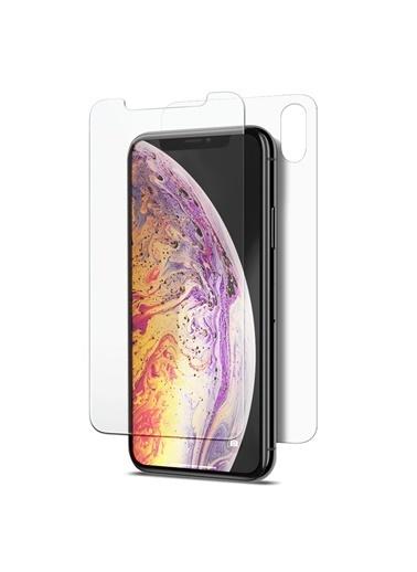 Microsonic iPhone XS Max (6.5'') Ön + Arka Nano Cam Ekran Koruyucu Renksiz